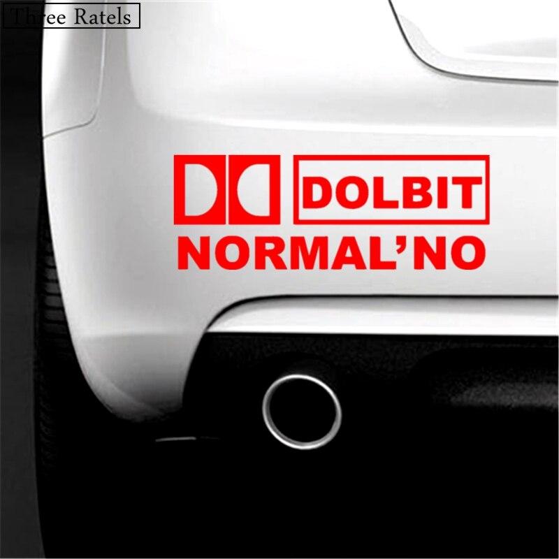 Image 3 - Three Ratels TZ 022 9.08*25cm 1 5 pieces DOLBIT NORMALNO car sticker car stickers-in Car Stickers from Automobiles & Motorcycles