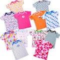 Дети в блузка младенцы короткий рукав футболки дети одежда футболки лето одежда 5 частей / серия