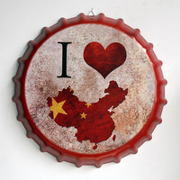 Tin Sign I love China Vintage Metal Painting Beer Cover Cafe Bar Hanging Ornaments Wallpaper Decor Plates Retro Mural Poster