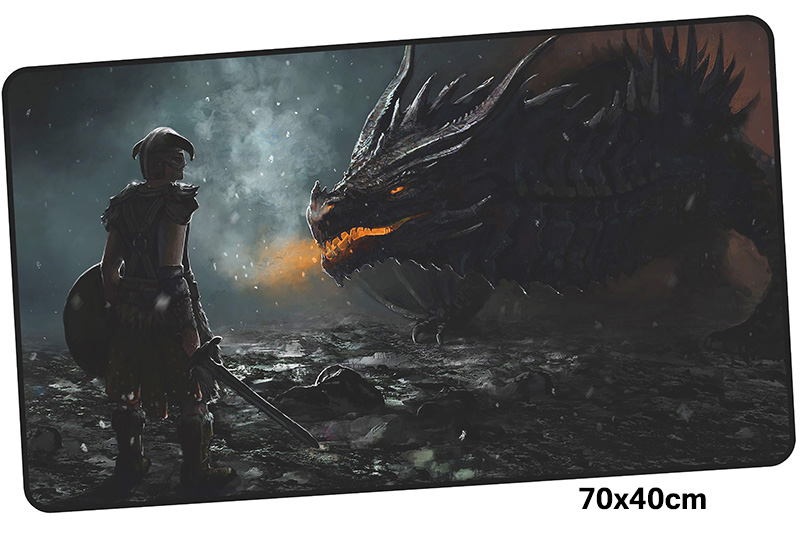 skyrim mousepad gamer 700x400X3MM gaming mouse pad large Domineering notebook pc accessories laptop padmouse ergonomic mat