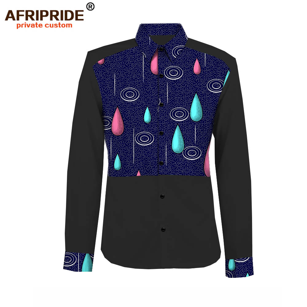 2019 spring amp autumn african casual shirt for men AFRIPRIDE tailor made full sleeve single breasted men 39 s cotton shirt A1812007 in Casual Shirts from Men 39 s Clothing