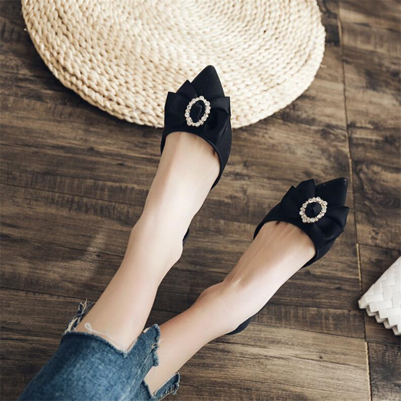 Image 4 - New pointed high heeled fashion womens shoes diamond buckle wedge with soft bottom casual flower sandals summer jelly shoesMiddle Heels   -