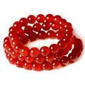 Carnelian Bracelet Red Agate Beaded DIY Natural Quartz Stone Charm Druzy Jewelry Handmade European
