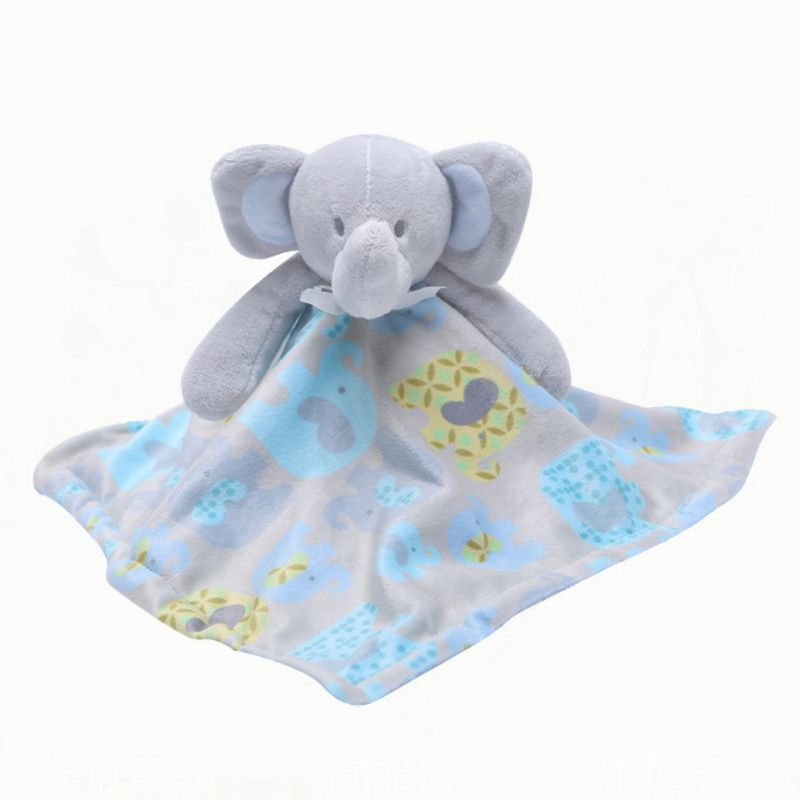 Baby Pacifier Appease Soothe Towel Cute Cartoon Elephant Soft Plush Nursing Stuffed Doll Infant Teether Sleeping Partner