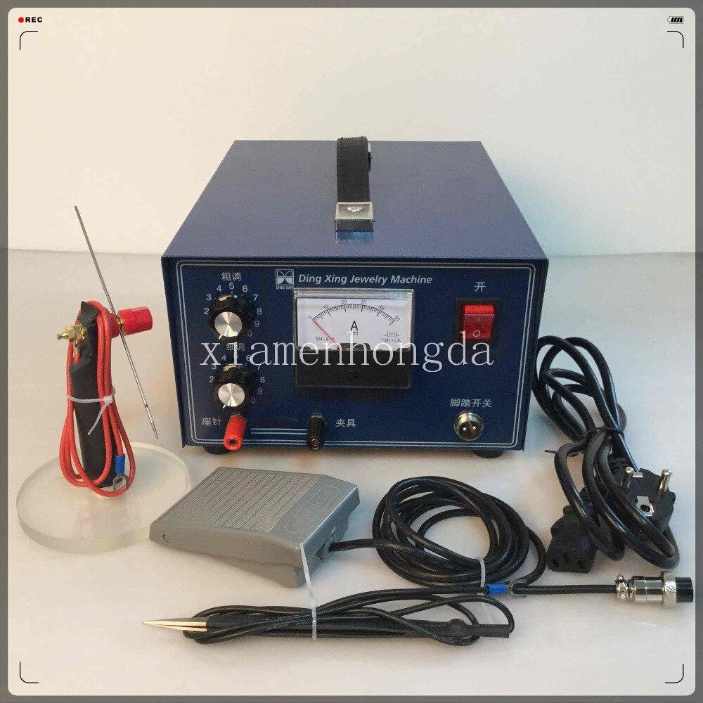 Orfèvre livraison gratuite impulsion étincelle soudeuse par points 400 Wwith électrode supplémentaire, soudeuse de bijoux, soudeuse par points outils de bijoux, équipement - 2