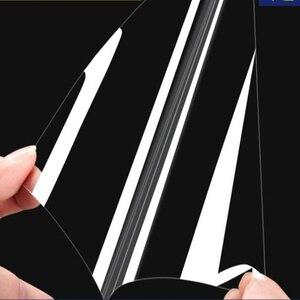 Image 5 - Глянцевая прозрачная стеклянная Защитная пленка для мебельного стола, 50 см x 200 см, 2Mil, наклейка на рабочий стол, защитная пленка с клеем