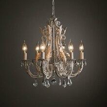 זוהר בציר נברשת קריסטל תאורת סלון אוכל חדר שינה נברשות לופט רטרו בית תפאורה Lustres Cristal