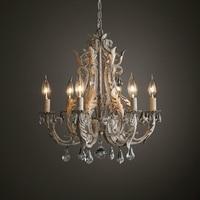 Lustre Vintage Chandelier Crystal Lighting For Living Dining Room Bedroom Chandeliers Loft Retro Home Decor Lustres Cristal