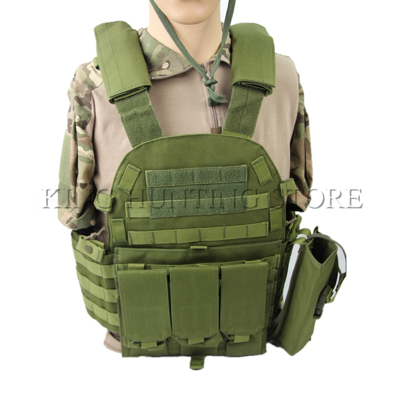 NEW USMC Tactical Vest Military Airsoft Molle Combat Assault Carrier Vest Outer Airsoft Large Lightweight fit Paintball Game