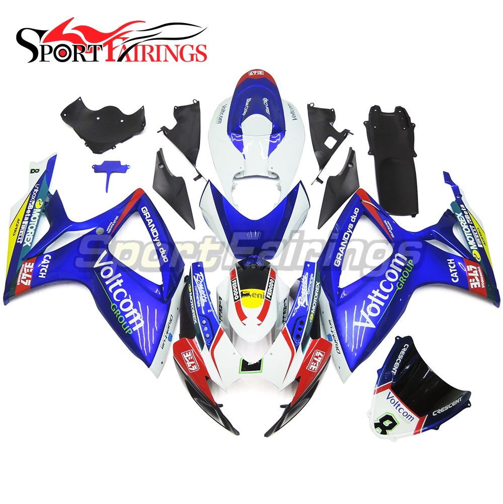 Complete Motorbike Injection ABS Plastic Fairing Kit For Suzuki GSXR600-750 06-07 GSXR750 K6 2006 2007 Cowling Group Blue 8 New