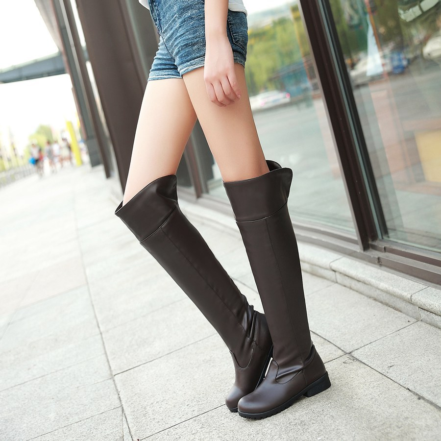 Anime  Attack On Titan Women Cosplay Long Boots Shingeki No Kyojin Over-the-Knee Boots Eren Jaeger Ackerman Shoes