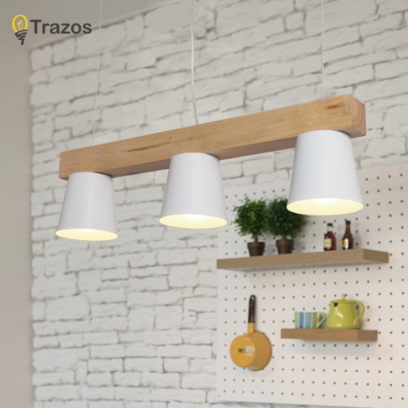 Modern led Pendant Lights Wooden+Aluminum Colorful Pendant Lamps For Restaurant/Bar Lighting luminaire Home Decoration lamparas nordic contracted wrought iron aluminum pendant lights suitable for home shop decoration home lighting restaurant droplight