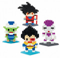 Hot Sale Cartoon Anime Dragon Ball Action Figure Goku Picolo Model Diamond Building Block Gift Toy