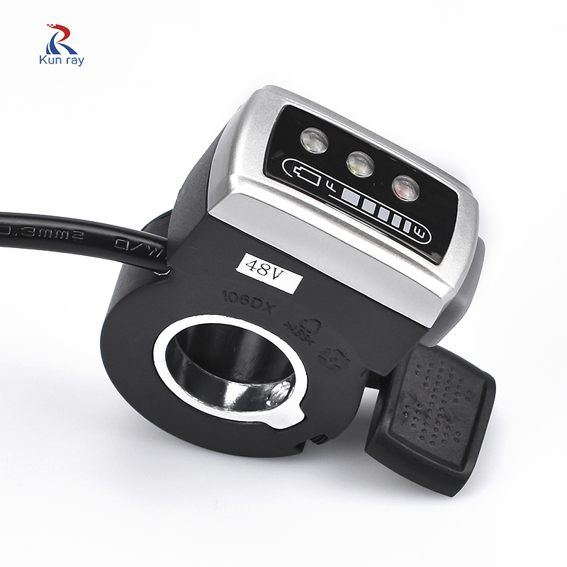 Wuxing 36V48V Ebike Parts Thumb Throttle Electric Bicycle Thumb Throttle