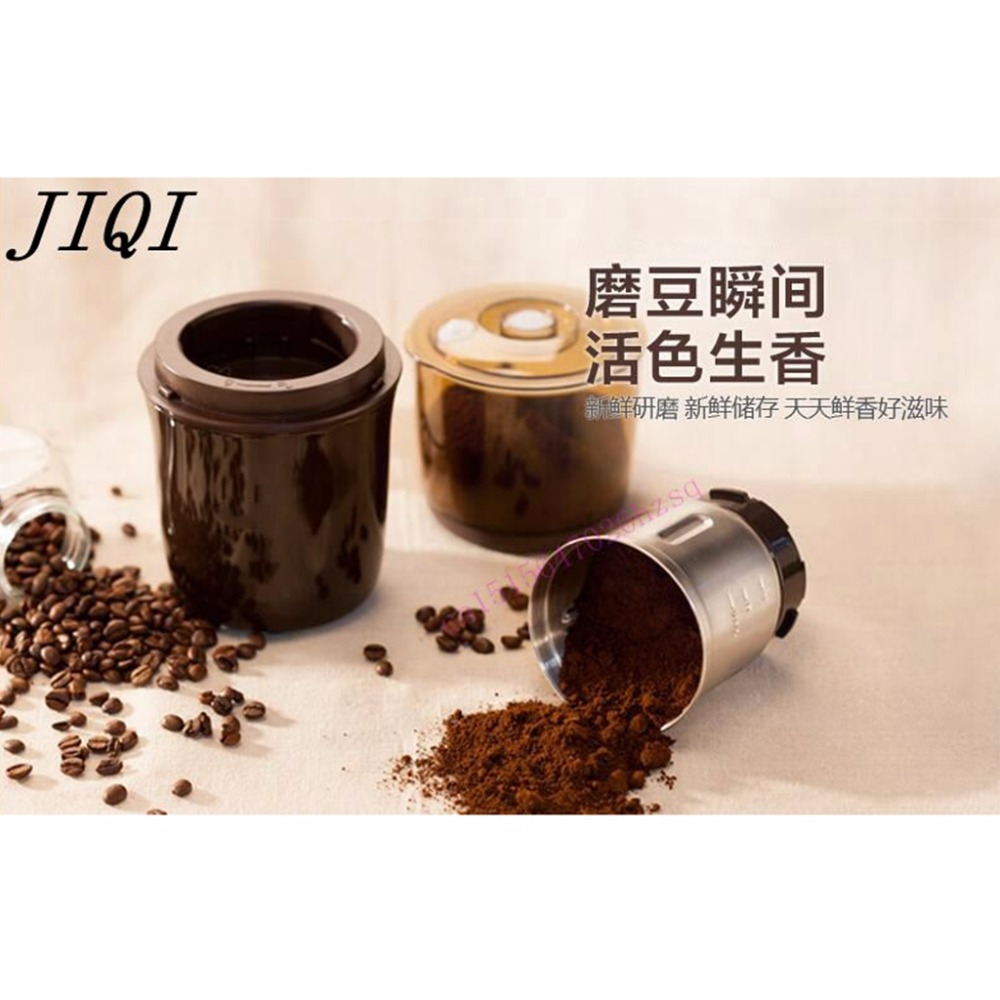 JIQI Ultrafine mill small household grain dry mill powder machine electric grinding mill traditional Chinese medicine high quality 300g swing type stainless steel electric medicine grinder powder machine ultrafine grinding mill machine