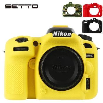 SETTO Мягкая силиконовая резина D7500 камера защитный корпус чехол для Nikon D7500 DSLR камера сумка Защитная крышка >> SETTO Digital Tech Store