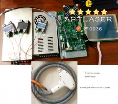 whole set 600w 808nm Diode Laser Hair Removal spare parts 808nm handle screen control power supply