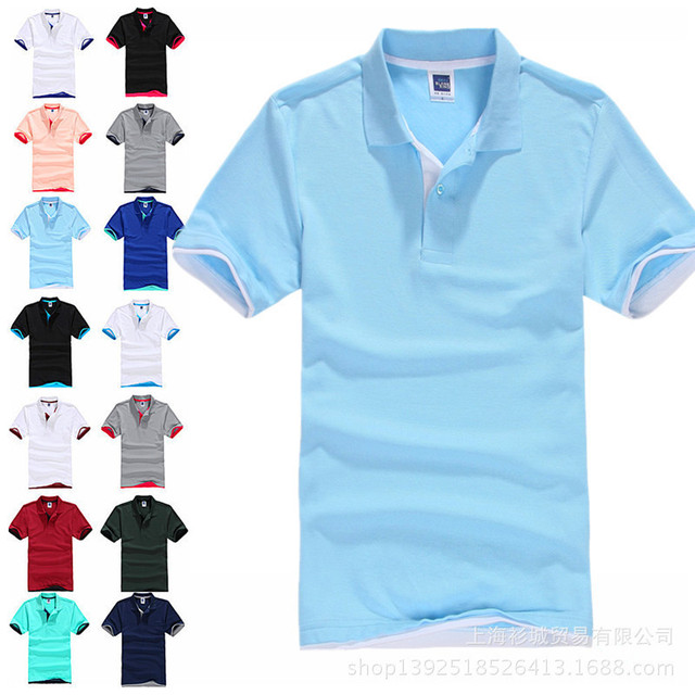 2017 New Brand Men's Polo Shirt For Men  Polos Men Cotton Short Sleeve shirt  jerseys   Plus Size 3XL