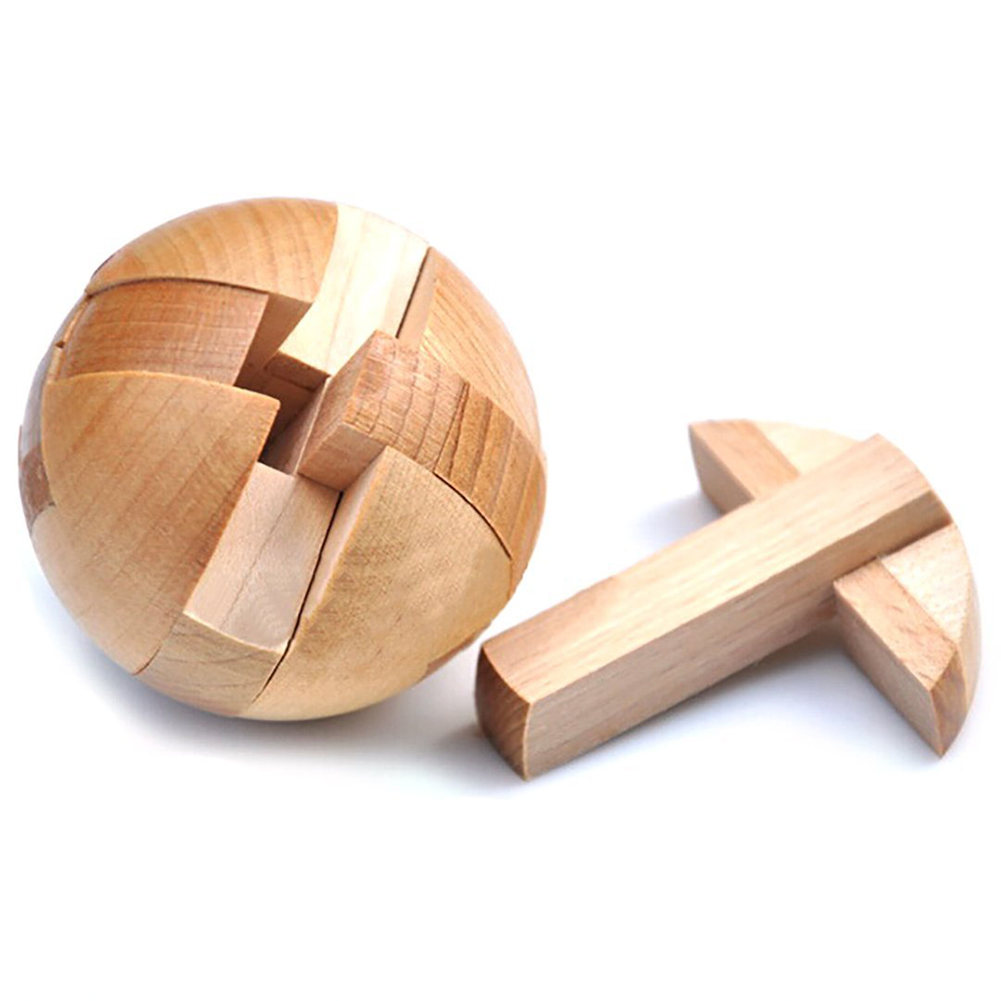 ABWE Best Sale Wooden Puzzle Magic Ball Brain Teasers Toy Intelligence Game Sphere Puzzles For Adults/Kids