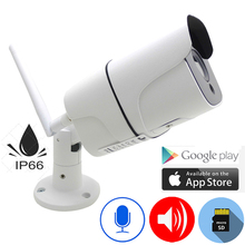цена IP Camera Wifi 720P 960P 1080P HD Wireless Cctv Security Outdoor Waterproof Bullet Audio IPCam Infrared Surveillance Home Camera