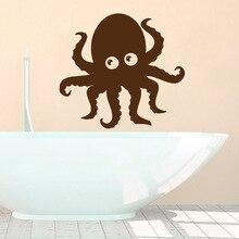 Cute Lovely Octopus Wall Sticker Kitchen Bathroom Art Decorative Decals Vinyl Design Waterproof WallpaperY-720