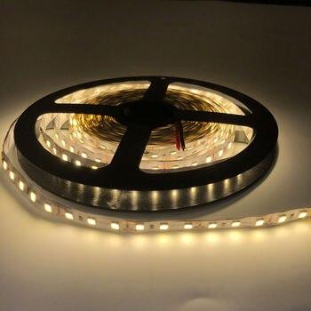 цена на 5M/Roll LED Strip Light 2835 SMD 5M 600Leds Flexible Light Ribbon DC 12V LED Tape Decoration 120led/m Super Bright Warm white