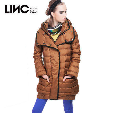 2015 Winter Thicken Warm Woman Down jackets Coat Parkas Outerweat Luxury Hooded Double collar Straight Black Plus Size 2XXL Long 2015 winter thicken warm woman down jacket tan fur collar coat parkas outerweat slim luxury brand mid long cloak 2xxl black
