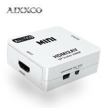 Aixxco HD 1080 P HDMI К AV/RCA CVBS адаптер Mini HDMI2AV видео конвертер для HDTV ТВ PS3 компьютер PC VCR NTSC