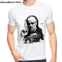 Vintage Movie The Godfather T font b Shirt b font font b Men b font Short