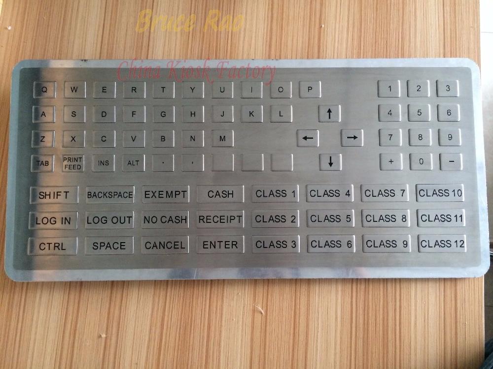 Stainless-Steel Industrial-Keyboard Keycap-Shape Custom Panel-Mount Keypad 76-Keys ATM