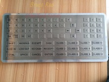 Custom 76 keys big size ATM keypad keycap shape button stainless steel panel mount industrial keyboard for toll station