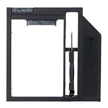 """2017 Новый Универсальный 9 мм/9.5 мм Пластиковые 2.5 """"SATA HDD SSD Caddy Дело HDD Корпус для Ноутбука Оптический Привод"""