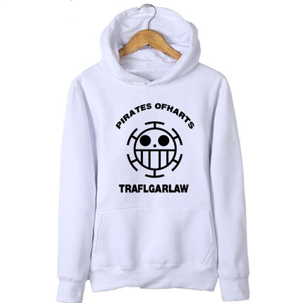 New Anime One Piece Hoodie Luffy Man Cardigan Zipper Coat Thick Hooded Sweatshirt For Men Women