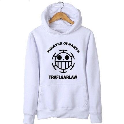 New Anime One Piece Hoodie Luffy Man Cardigan Zipper Coat Thick Hooded Sweatshirt For Men Women