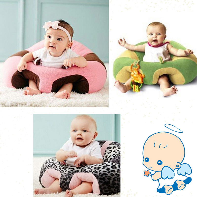 New Cartoon Baby Seats Sofa Baby Furniture Support Sit Posture Seat Comfortable Sofa 0-3 Years Kid Learn Eating Plush Soft Chair