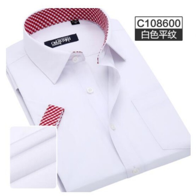 2016 Wholesale New Fashion Mens Casual Tops Short Sleeve Shirts Slim Fit Business Shirts Dress Formal Shirts White Free Shipping
