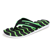 Plus Size US 11 Wave Flip Flops For Men Cheap Striped EVA Men's Slides Shoes Summer Cool Flat Home Slippers Beach Shoes Man