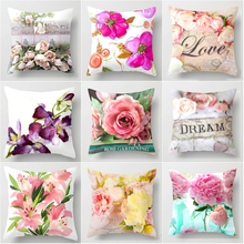 New Euro Style Home Decor Cushion Cover Rose Flower Throw Pillow for sofa Mediterranean style pillowcase gifts
