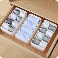 Multi free combination underwear storage box Container Drawer Divider Lidded Closet Boxes For Ties Socks Bra Underwear Organizer