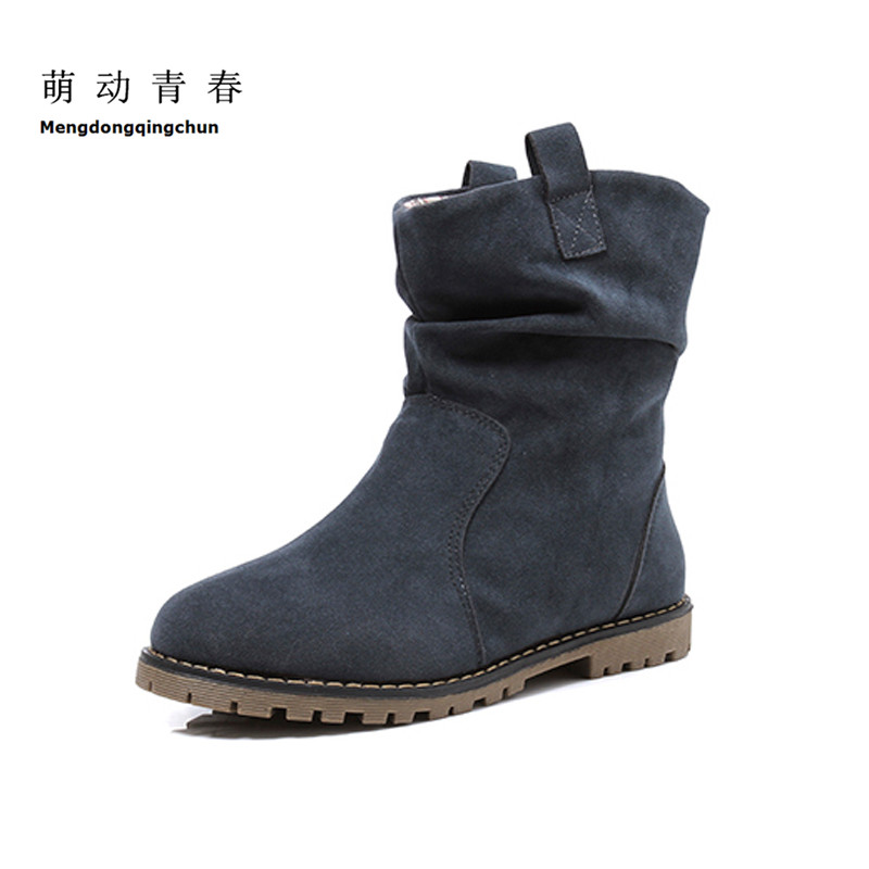 Plus Size 43 Women Ankle Boots Fashion Designer Woman Shoes Winter Vintage Flat Heel Motorycle Boots Female Snow Botas beyarne new autumn and winter women snow boots front strap flat heel medium leg student boots plus size 34 43 free shipping