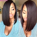 Short Black Bob Wigs for Women Sell Synthetic Wigs Black Women's Cheap Straight Bob Wigs Heat-resistant Hair Perruque Lace Fron