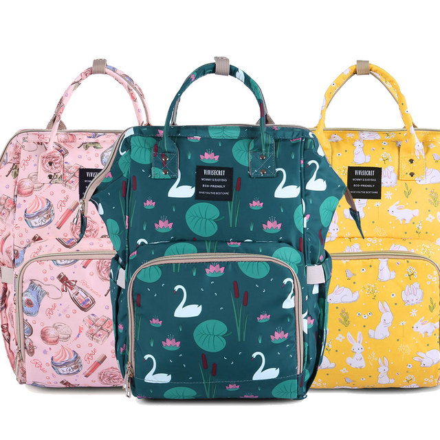 Baby Diaper Bag Organizer Mummy Maternity Backpack Nappy Changing Bags  Waterproof Nursing Bag Wet Bag For aa61562ff699