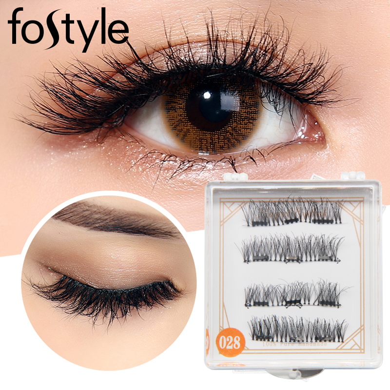 russian lash extension Magnetic False Eyelashes Soft Mink Magnet Fake Eyelash Natural Ey ...