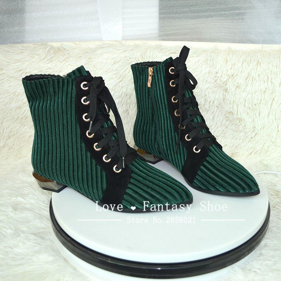 green Marrón En De Up Botines Moda Tacones Zapatos Bajos Cómodo Brown Lace Señoras Las Vaca Mujeres Clásico Suede Verde Punta q1wwaSH