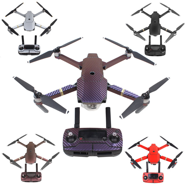 SUNNYLIFE Carbon Fiber Drone Body Arms Controller Wrap Skin Sticker Cover Protector Set for DJI Mavic Pro Drone Part Accessories