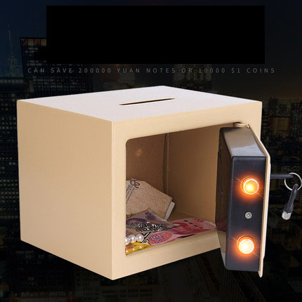 Aiboully Electronic Piggy Bank Money Box Cash Coins Saving Box ATM Bank Safe Box Banknote children adult gift