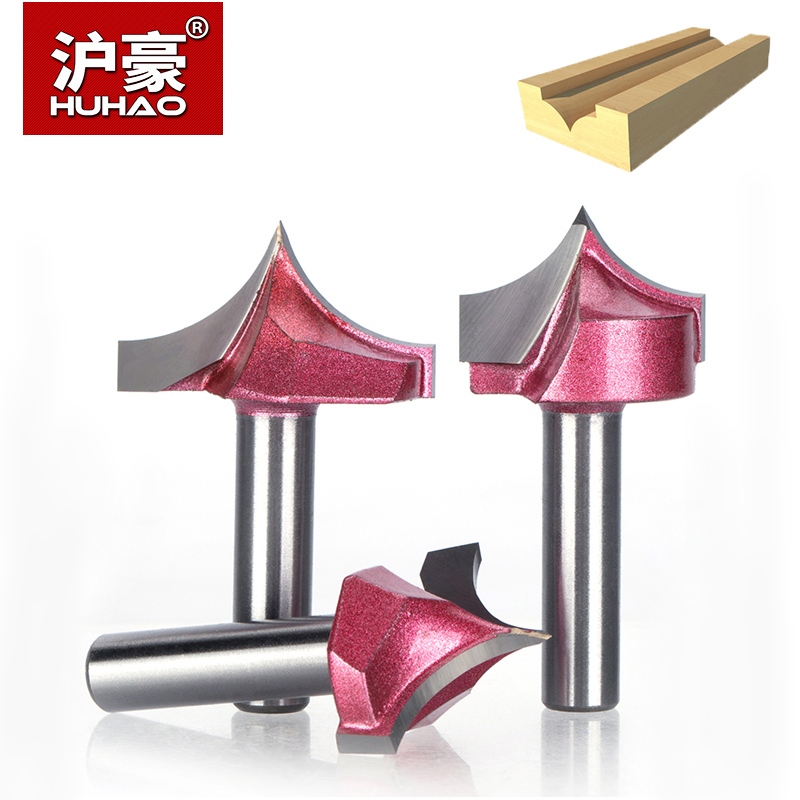 HUHAO 1pc Shank 8mm Woodworking Cutter Carbide-Tipped Router Bits For Wood Roundover Engraving Trimming Lettering Flutiing Bit 1pc 1 2 7 8 woodworking cutter cnc engraving tools cutting the wood router bits 1 2 shk