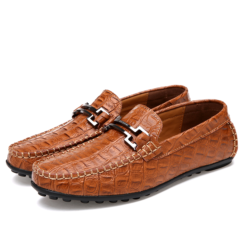 Men Casual Shoes Genuine Leather 2017 Driving Moccasins Slip On Mens Shoes Boat Loafers Casual Spring Fashion Breathable Oxfords pl us size 38 47 handmade genuine leather mens shoes casual men loafers fashion breathable driving shoes slip on moccasins