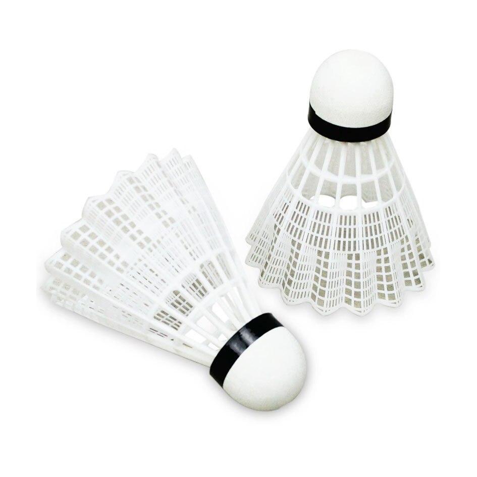 6pcs Fine Sporting Soft Plastic Badminton Shuttlecock White