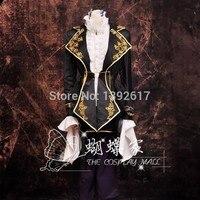 Мужские черные кружево Золотой вышивка роскошные средневековый костюм Винтаж период костюм куртка с брюки для девочек